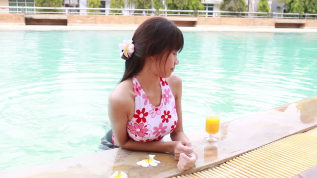 woman relax and enjoy in swimming pool - squash sport stock videos & royalty-free footage