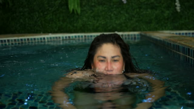 woman relaxing in spa pool - taking a bath stock videos and b-roll footage