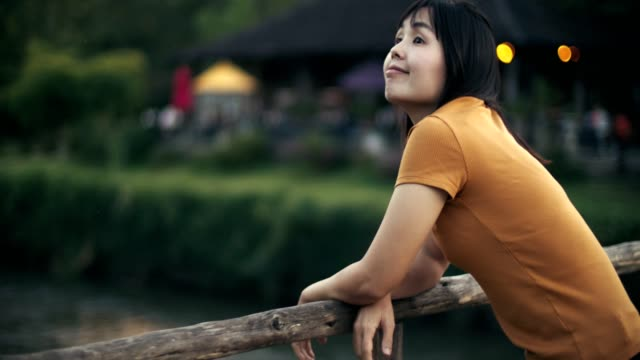 woman relaxing on the wooden bridge - mae hong son province stock videos and b-roll footage