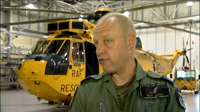 woman rescued after falls overboard from ferry; england: yorkshire: int flight sergeant richard jones interview sot - sergeant stock videos & royalty-free footage