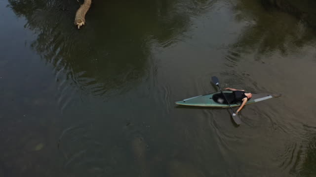 woman resting after training in kayak - lying on back stock videos & royalty-free footage