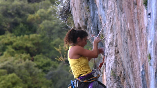 woman rock climber - turkey middle east stock videos & royalty-free footage