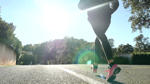 woman runner - profile stock videos & royalty-free footage