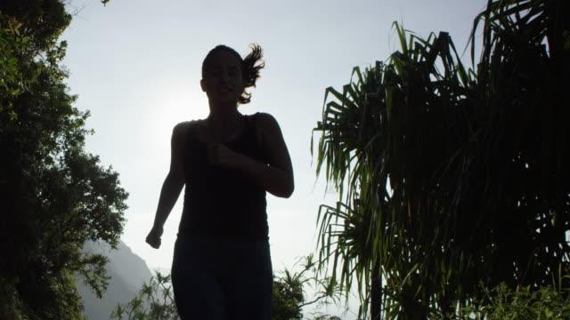 Woman Running in Tropical Hawaii