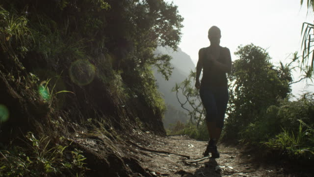 Woman Running in Tropical Hawaii