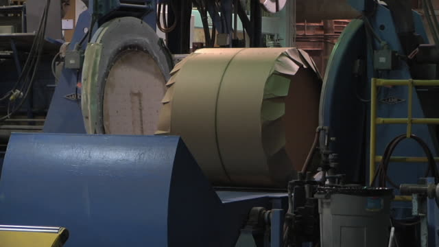 ms zo woman sealing roll of paper in paper mill / manistique, michigan, usa - paper mill stock videos & royalty-free footage