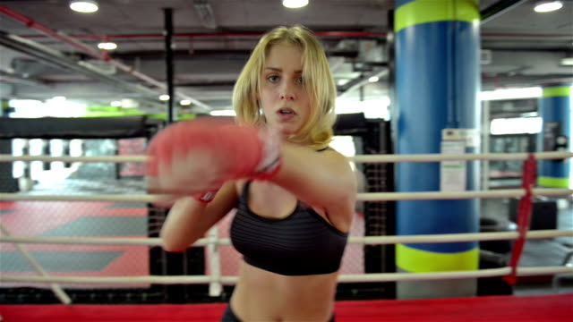 woman shadow boxing - role reversal stock videos & royalty-free footage