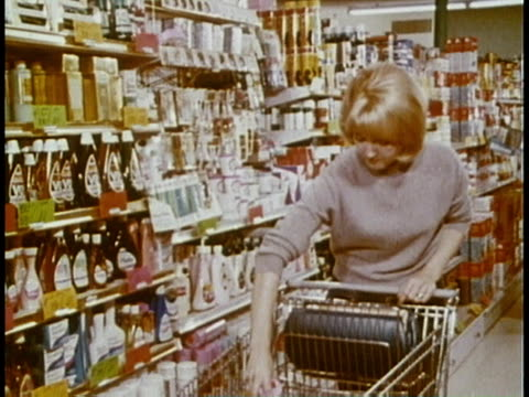 1969 montage woman shoplifter hiding cosmetics in her purse / united states - shoplifter stock videos & royalty-free footage
