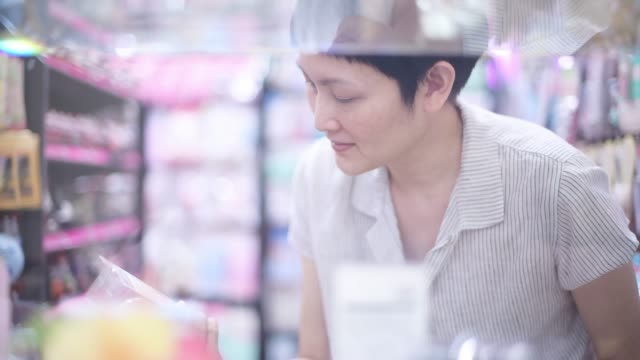 Woman shopping at discount store