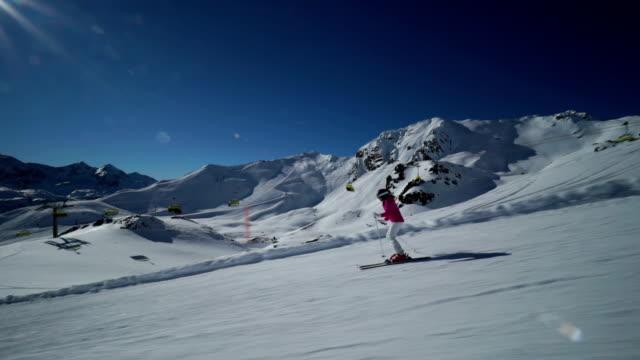 woman skiing at shunshine