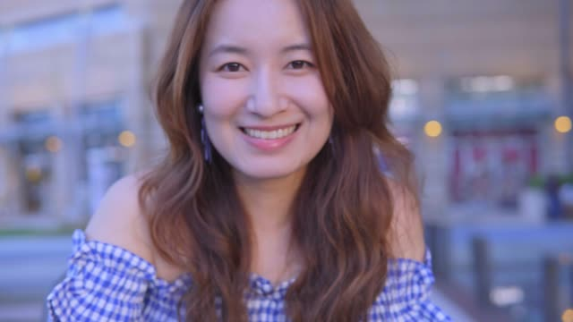 woman  smile happily to you - taiwan stock videos & royalty-free footage