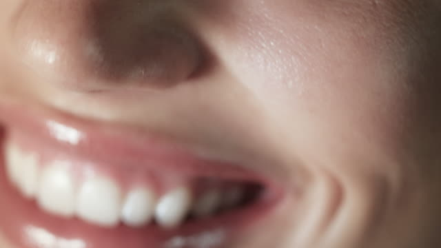 Woman smiling closeup