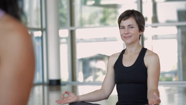 MS PAN Woman smiling in yoga studio / Vancouver, British Columbia, Canada