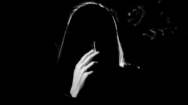 Woman Smoke Cigarette