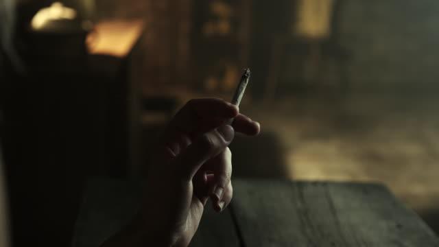 woman smoking marijuana joint - addict stock videos and b-roll footage