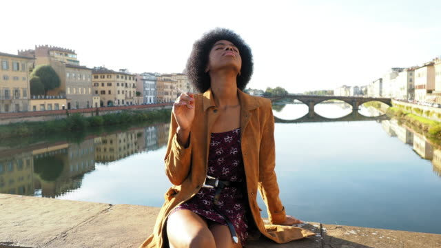 woman smoking - florence italy stock videos & royalty-free footage