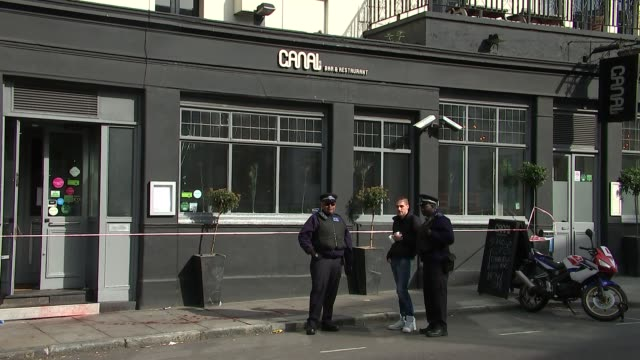 woman stabbed in the leg outside canal bar in islington and man stabbed in highbury park england london caledonian road canal bar and restaurant... - islington stock-videos und b-roll-filmmaterial