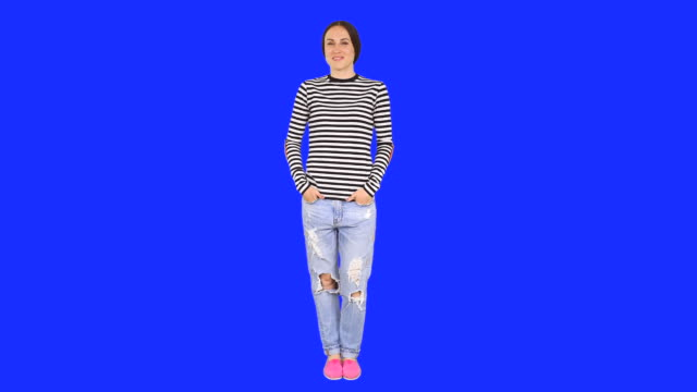 woman standing in confident pose - standing stock videos & royalty-free footage