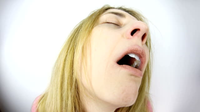 woman startled from dream - snoring stock videos and b-roll footage