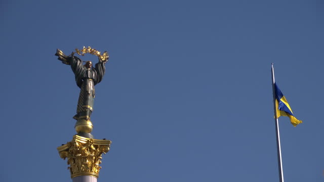 cu woman statue  - ukraine stock videos & royalty-free footage