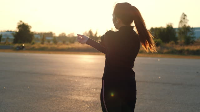woman streching in the morning before runner - overweight yoga stock videos & royalty-free footage