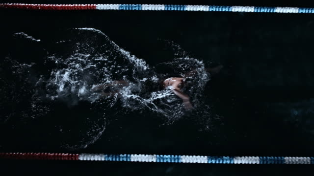 woman swimming the front crawl - freestyle swimming stock videos and b-roll footage