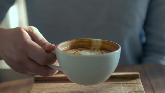 woman take a coffee at cafe - life events stock videos & royalty-free footage