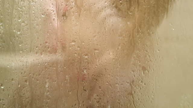 ms woman taking a shower - naked stock videos and b-roll footage