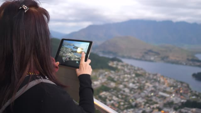 Woman taking view at View point
