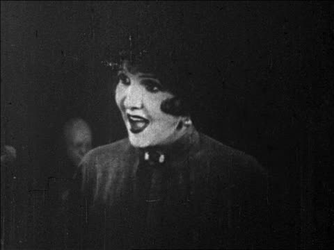 b/w 1925 woman talking / feature - 1925 stock videos & royalty-free footage