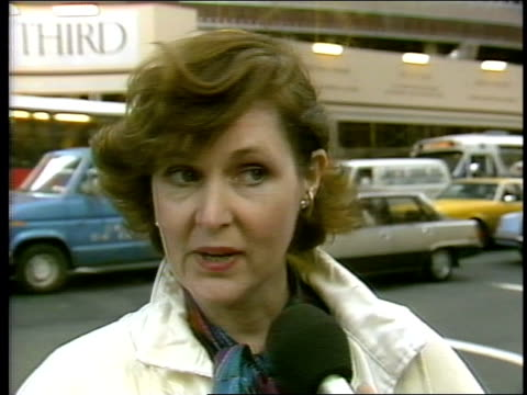 NYC Woman Talking Interviewed During AntiApartheid Rally