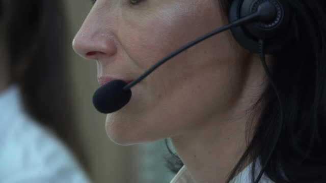 woman talking on headset, call center - customer service representative stock videos & royalty-free footage