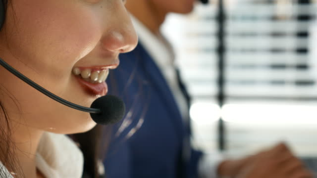 Woman Talking on Headset, Call center