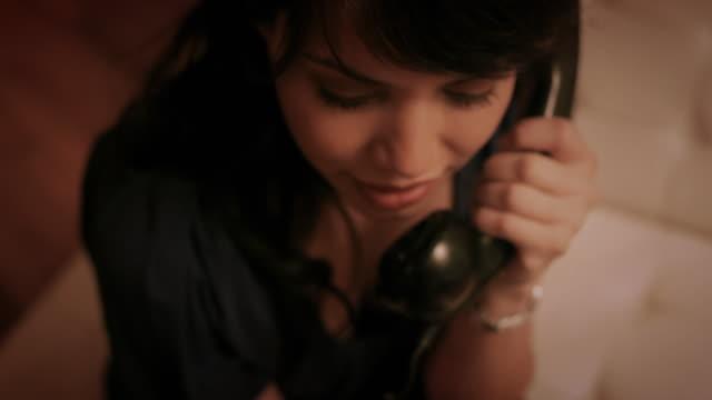 cu tu td woman talking on telephone / new york city, new york, usa - landline phone stock videos & royalty-free footage