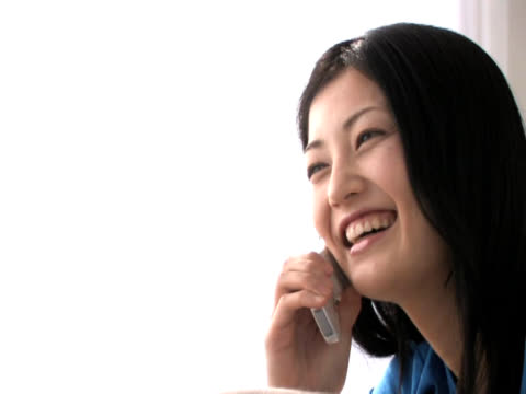 Woman talking with cell phone