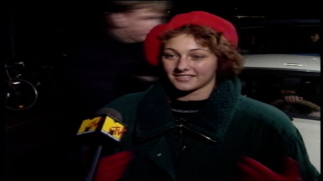 woman talks about how hreat it is to have the berlin wall crossing opened and having germany united again - 1980 1989 stock videos & royalty-free footage