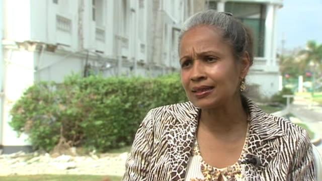 woman talks of devastation following earthquake in haiti - hispaniola stock videos & royalty-free footage