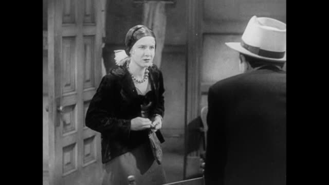 1931 woman teases hostile reporters that she has secret - 1931 stock videos & royalty-free footage