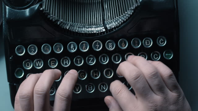 ld woman ten finger typewriting - typewriter stock videos & royalty-free footage