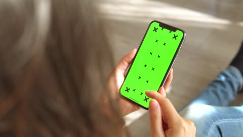 woman touching telephone green screen - electronic organizer stock videos & royalty-free footage