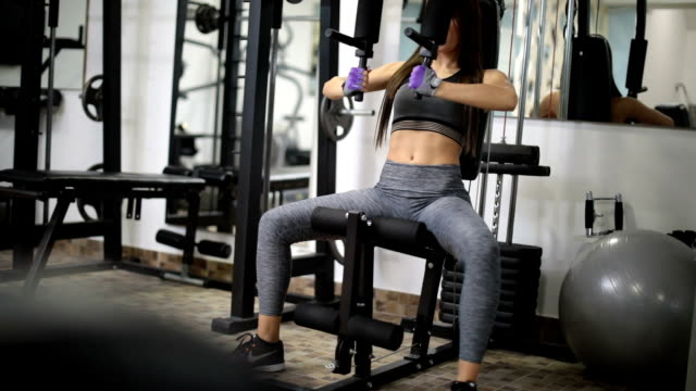 woman training alone - exercise equipment stock videos and b-roll footage