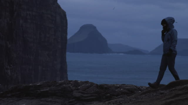 Woman travel adventures: hiking at Faroe Islands