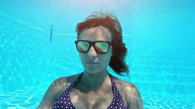 woman underwater - sleep apnea stock videos and b-roll footage