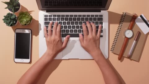 woman use laptop for business over isolated background - typing stock videos & royalty-free footage