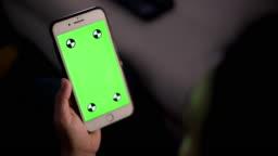 Woman use smart phone chroma key 4k