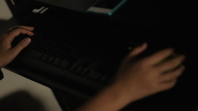 Vrouw met behulp van Computer