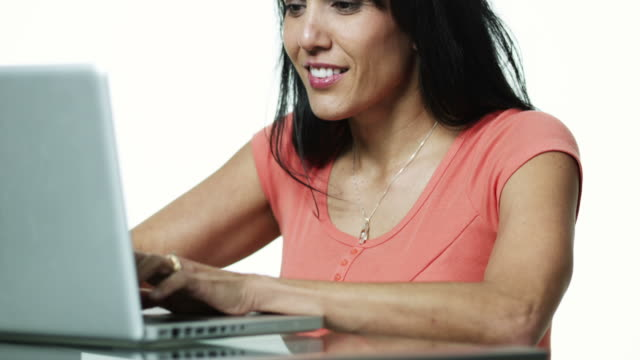 ms woman using laptop / orem, utah, usa - polynesian ethnicity stock videos & royalty-free footage