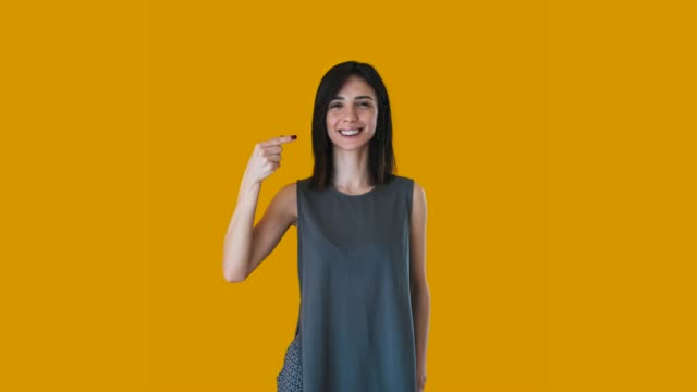 woman using sign language : a/z - sign language stock videos and b-roll footage