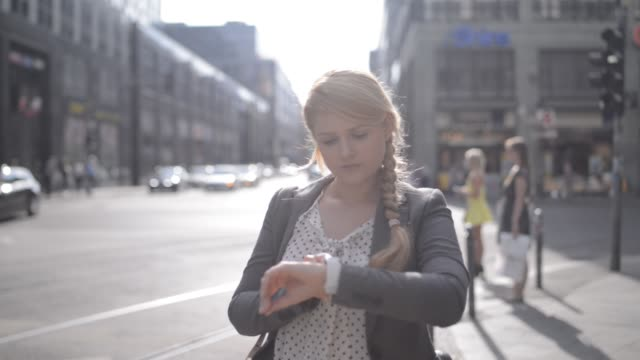 Woman Using Smartwatch
