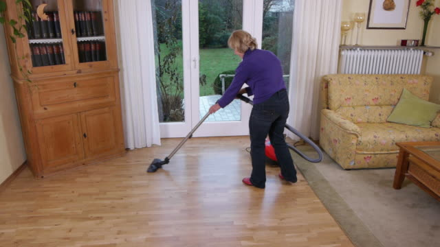 Woman Vacuuming
